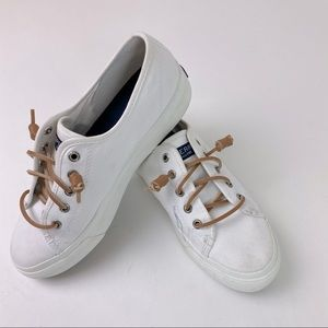 SPERRY Crest Vibe Platform sneaker white Sz 6.5